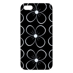 Black and white floral pattern iPhone 5S/ SE Premium Hardshell Case
