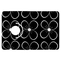 Black and white floral pattern Kindle Fire HDX Flip 360 Case