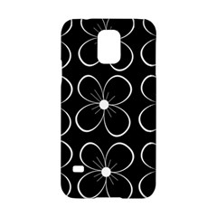 Black and white floral pattern Samsung Galaxy S5 Hardshell Case