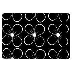 Black and white floral pattern iPad Air Flip