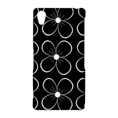 Black and white floral pattern Sony Xperia Z2