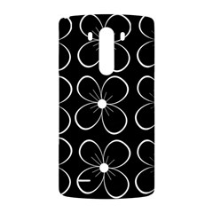 Black and white floral pattern LG G3 Back Case
