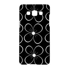 Black and white floral pattern Samsung Galaxy A5 Hardshell Case