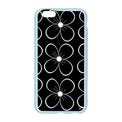 Black and white floral pattern Apple Seamless iPhone 6/6S Case (Color)