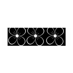 Black and white floral pattern Satin Scarf (Oblong)