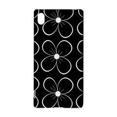 Black and white floral pattern Sony Xperia Z3+