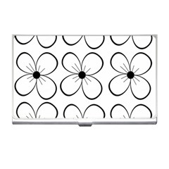 White flowers pattern Business Card Holders