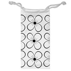 White flowers pattern Jewelry Bags