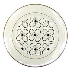 White flowers pattern Porcelain Plates