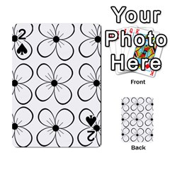 White flowers pattern Playing Cards 54 Designs