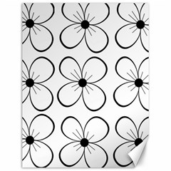 White flowers pattern Canvas 12  x 16