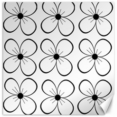 White flowers pattern Canvas 16  x 16