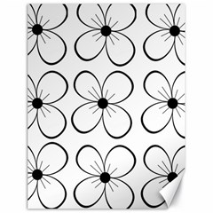 White flowers pattern Canvas 18  x 24