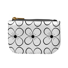 White flowers pattern Mini Coin Purses