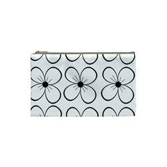White flowers pattern Cosmetic Bag (Small)