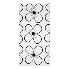 White flowers pattern Shower Curtain 36  x 72  (Stall)