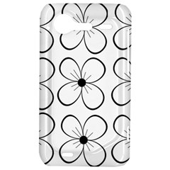 White flowers pattern HTC Incredible S Hardshell Case