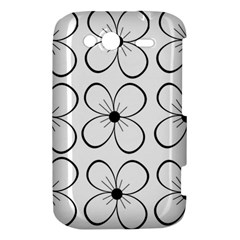 White flowers pattern HTC Wildfire S A510e Hardshell Case
