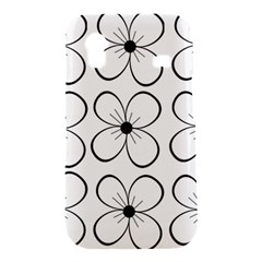 White flowers pattern Samsung Galaxy Ace S5830 Hardshell Case