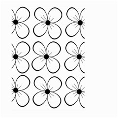 White flowers pattern Large Garden Flag (Two Sides)