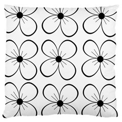 White flowers pattern Large Cushion Case (Two Sides)