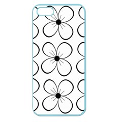 White flowers pattern Apple Seamless iPhone 5 Case (Color)