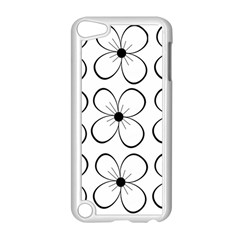 White flowers pattern Apple iPod Touch 5 Case (White)