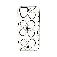 White flowers pattern Apple iPhone 5 Classic Hardshell Case (PC+Silicone)