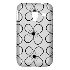 White flowers pattern Samsung Galaxy Ace Plus S7500 Hardshell Case