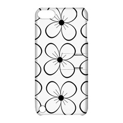 White flowers pattern Apple iPod Touch 5 Hardshell Case with Stand