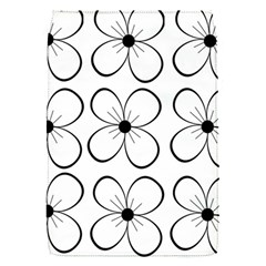 White flowers pattern Flap Covers (S)