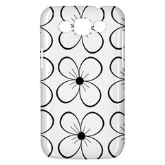 White flowers pattern Samsung Galaxy Win I8550 Hardshell Case