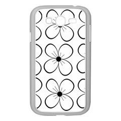 White flowers pattern Samsung Galaxy Grand DUOS I9082 Case (White)