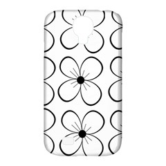 White flowers pattern Samsung Galaxy S4 Classic Hardshell Case (PC+Silicone)