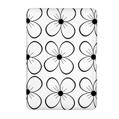 White flowers pattern Samsung Galaxy Tab 2 (10.1 ) P5100 Hardshell Case