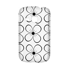 White flowers pattern Samsung Galaxy S6310 Hardshell Case