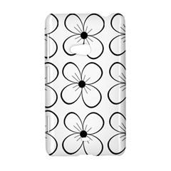 White flowers pattern Nokia Lumia 625