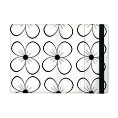 White Flowers Pattern Ipad Mini 2 Flip Cases