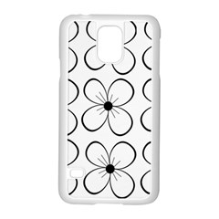 White flowers pattern Samsung Galaxy S5 Case (White)
