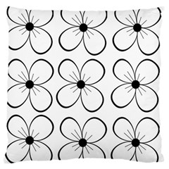 White flowers pattern Large Flano Cushion Case (Two Sides)