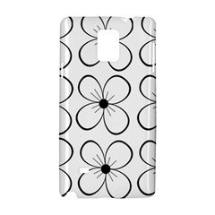 White flowers pattern Samsung Galaxy Note 4 Hardshell Case