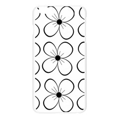 White flowers pattern Apple Seamless iPhone 6 Plus/6S Plus Case (Transparent)
