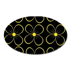 Yellow flowers Oval Magnet