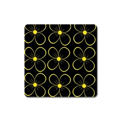 Yellow flowers Square Magnet