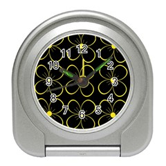 Yellow flowers Travel Alarm Clocks