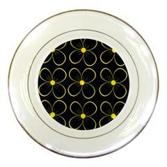 Yellow flowers Porcelain Plates