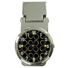 Yellow flowers Money Clip Watches