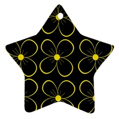 Yellow flowers Star Ornament (Two Sides)