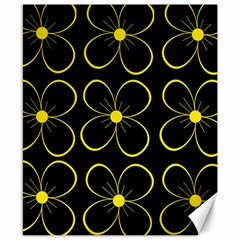 Yellow flowers Canvas 8  x 10