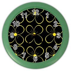 Yellow flowers Color Wall Clocks